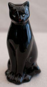 Black Cat Ceramic Statuette