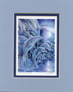 Dolphins Spirit Of Illumination Print
