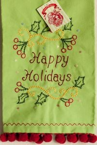 Happy Holidays Kitchen Towel