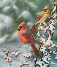 Winter Cardinals Christmas Register