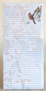 Winter Cardinals Magnetic List Pad