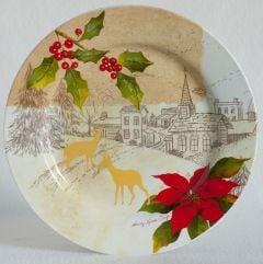 Holiday Landscape Dinner Plate