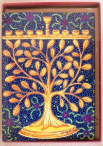 Branched Menorah Holiday Boxed Notes