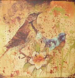 Birds Abstract Canvas Art.