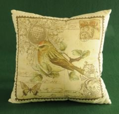 Bird & Butterfly Post Pillow