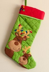 Reindeer Children's Stocking