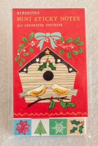 Holiday Birdhouse Mini Sticky Notes
