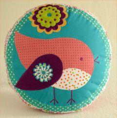 Patchwork Birdie Pillow