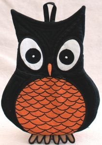 Owl-Shaped Oven Mitt