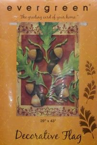 Autumn Acorns Large Flag