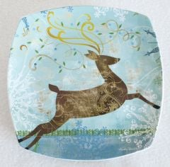 Holiday Deer Salad Plate