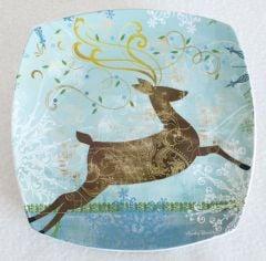 Holiday Deer Salad Plate