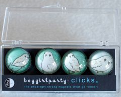 Snowy Owls Clicks® Magnet 4-Pack