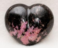 Carved Rhodonite Heart