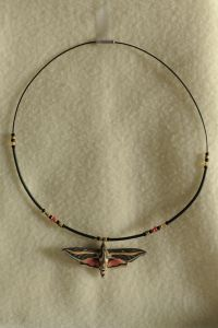 Yipes! Sphinx Moth Necklace