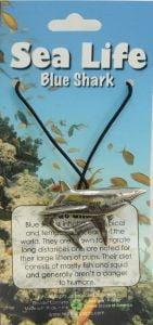 Blue Shark Pendant Necklace