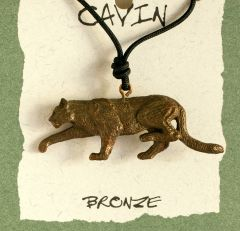 Mountain Lion Bronze Pendant (Wildlife in Bronze)