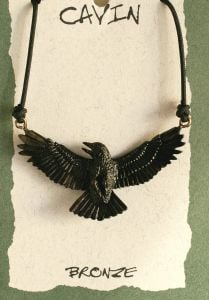 Crow Bronze Pendant (Wildlife in Bronze)