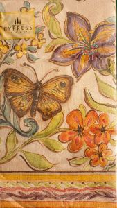 Butterfly & Flower Guest Napkins