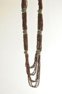 Tibetan Naga Tribal Necklace (Red-Brown)