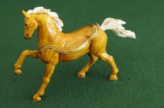Arabian Stallion Bejeweled Enamel Trinket Box