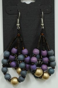 Purple & Blue Bead Earrings