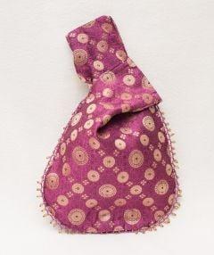 Pink & Gold Patterned Handbag