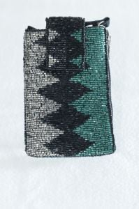 Teal & Silver Clutch Purse