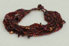 Mayan Beaded Multi-Strand Bracelet