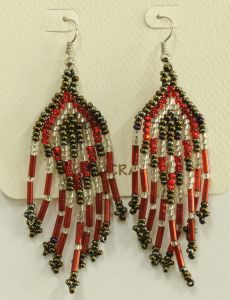 Mayan Beaded Earrings