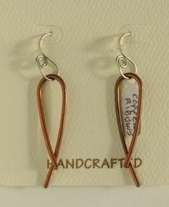 Copper Ribbon Earrings