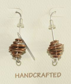 Copper Swirl Earrings