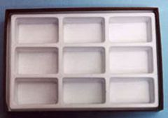Opaque Compartmentalized Specimen Box  (Small; 9 Chambers)