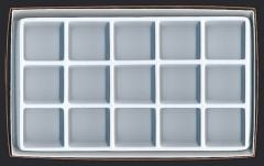 Opaque Compartmentalized Specimen Box  (Medium; 15 Chambers)