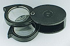 5x/10x Folding Pocket Magnifier (Hard Case)