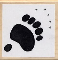 Bear (Grizzly) Track Rubber Stamp