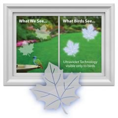 Bird-Saving Window Decal Pack (Maple Leaf-Shaped)