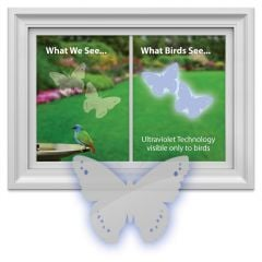 Bird-Saving Window Decal Pack (Butterfly-Shaped)