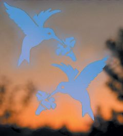Bird-Saving Window Decal Pack (Hummingbird-Shaped)