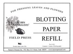 Acorn Naturalists Pocket Plant Press Additional Blotter Pack (15 Sheets)