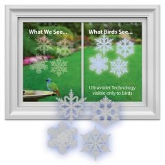 Bird-Saving Window Decal Pack (Snowflake-Shaped)