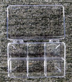 Clear Storage Box, Six-Chambered (3