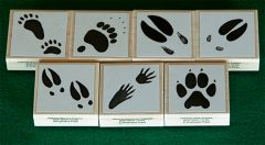 Animal Track Rubber Stamp Collection (Discounted Set of 7 Stamps)
