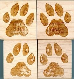 Bobcat Track Stamp Collection (Discounted Set of All 4 Track Stamps)