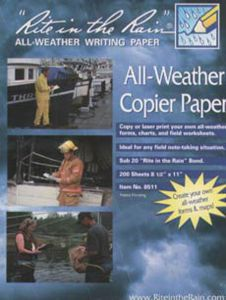 All-Weather Blank Notebook Paper, 8½