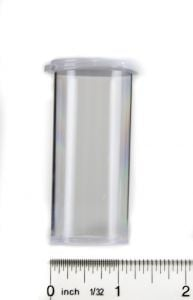 Snap Cap Vials (Clear Plastic, 12 Dram, Pack of 12)