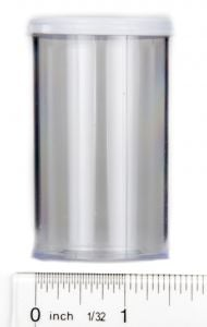 Snap Cap Vials (Clear Plastic, 20 Dram, Pack of 12)