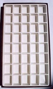 Opaque Compartmentalized Specimen Box (Large; 40 Chambers)
