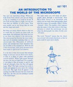 An Introduction to the Microscope (Microslide® Lesson Set)