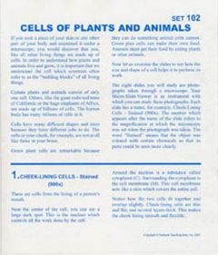 Cells of Plants and Animals (Microslide® Lesson Set)